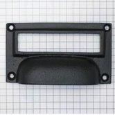 Etiketgreep ijzer zwart 78 x 44 mm