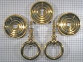 Set ringbeslag geelmessing met holle ring