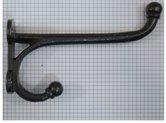 Kapstokhaak zwaar recht 19 cm ijzer blank