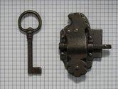 Kastslot ijzer geroest 30 mm links