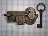 Kastslot ijzer geroest 55 mm links