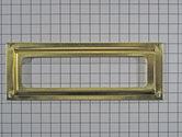 Etiketraampje vermessingd 79 x 29 mm