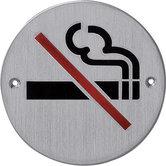 Pictogram rond rookverbod rvs