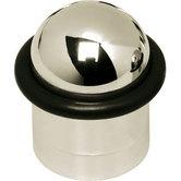 Deurstop met ring nikkel
